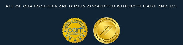 dual accreditation - CARF - the joint commission - JCI - joint commission international - accredited by